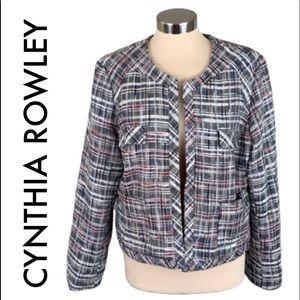 👑 CYNTHIA ROWLEY TWEED BLAZER / JACKET SIZE XL